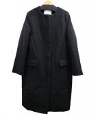 SLOBE IENA(イエナスローブ)の古着「ノーカラーコート」|ブラック