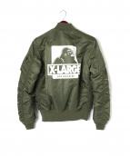 X-LARGE × ALPHA INDUSTRIES(エクストララージ × アルファインダストリーズ)の古着「MA-1ジャケット」|オリーブ