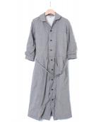 COMME des GARCONS COMME des GARCONS(コムデギャルソン コムデギャルソン)の古着「丸襟ワンピースコート」|グレー