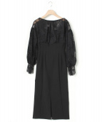 CELFORD(セルフォード)の古着「ブラウスドッキングワンピース」|ブラック