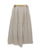 HUMAN WOMAN(ヒューマンウーマン)の古着「綿シルクシフォンスカート」|ライトグレー