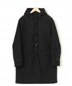 AURALEE(オーラリー)の古着「ヘビーメルトンダッフルコート」|ブラック