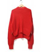 VONDEL(フォンデル)の古着「畦編みサイドジップニット」|レッド