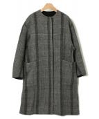 FRAY ID(フレイアイディー)の古着「リバーシブルコクーンコート」|グレー
