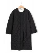 FRAY ID(フレイアイディー)の古着「キルティングリバーシブルコート」|ブラック
