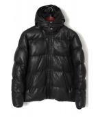 AVIREX(アヴィレックス)の古着「レザーダウンジャケット」|ブラック