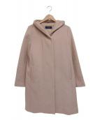 SHIPS(シップス)の古着「ウールフードコート」 ピンク