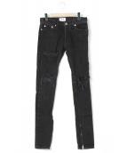 MintCrew(ミントクルー)の古着「ロックスターデニムパンツ」|ブラック