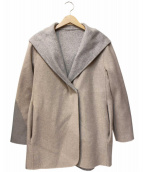 自由区(ジユウク)の古着「リバーウールコート」|ベージュ