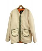 ALPHA(アルファ)の古着「ジャケット」 ホワイト×カーキ