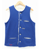 PORTER CLASSIC(ポータークラシック)の古着「ボアベスト」|ブルー