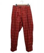 UMIT BENAN(ウミット ベナン)の古着「チェックパンツ」|レッド