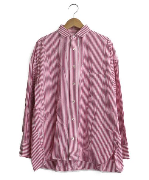 TICCA(ティッカ)TICCA (ティッカ) スクエアビッグシャツ ピンク サイズ:Fの古着・服飾アイテム