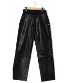 H&M×ALEXANDER WANG(エイチアンドエム×アレキサンダーワン)の古着「レザーパンツ」|ブラック