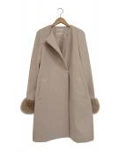 Apuweiser-riche(アプワイザーリッチ)の古着「衿ファー4WAYコート」|ベージュ