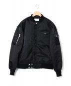UN3D.(アンスリード)の古着「オリガミプリーツMA-1ジャケット」|ブラック