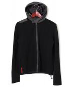 PRADA SPORTS(プラダスポーツ)の古着「2WAYニットジャケット」|ブラック