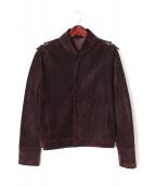 GUCCI(グッチ)の古着「スエードジャケット」|ブラウン