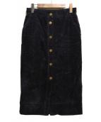 ESTNATION(エストネーション)の古着「コーデュロイタイトスカート」 パープル