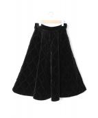 TRINCA UNPLUSUN(トリンカ アンプリュアン)の古着「ベッチンキルティングスカート」|ブラック