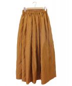 SACRA(サクラ)の古着「LINEN KARLMAYER ギャザースカート」|ベージュ