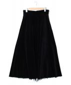 upper hights(アッパーハイツ)の古着「THE MAXIコーデュロイスカート」|ブラック