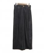 styling/ kei shirahata(スタイリング / ケイ シラハタ)の古着「タックワイドパンツ」 ネイビー