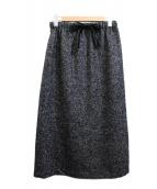 mizuiro-ind(ミズイロインド)の古着「リングツイードタイトスカート」 ブラック