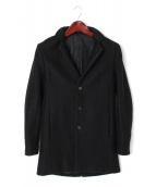 SHELLAC(シェラック)の古着「スパイラルニットチェスターコート」|ブラック