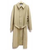Maison Margiela(メゾンマルジェラ)の古着「18SS/ステンカラーコート」|ベージュ