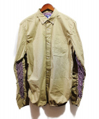JUNYA WATANABE COMME des GARCONS MAN(ジュンヤワタナベ コムデギャルソン マン)の古着「チェック切替シャツ」|ベージュ