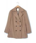 自由区(ジユウク)の古着「カシミヤショートビーバーPコート」|ベージュ
