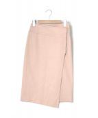 Noble(ノーブル)の古着「ダブルクロスラップスカート」|ライトピンク