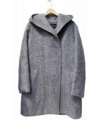 INDIVI(インディビ)の古着「シャギーフーデッドコート」|グレー