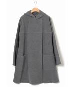 EPOCA(エポカ)の古着「フーデッドコート」|グレー