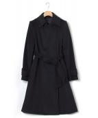 EPOCA(エポカ)の古着「アンゴラ混コート」|ブラック