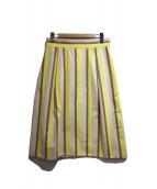 UNTITLED(アンタイトル)の古着「ストライプスカート」|ベージュ