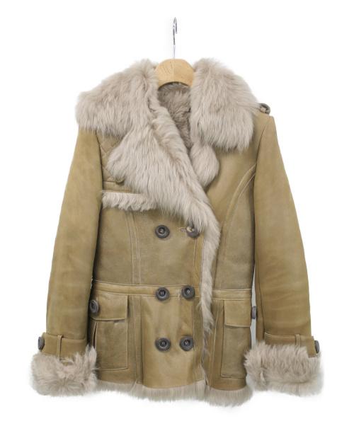 karl donoghue(カール ドノヒュー)karl donoghue (カール ドノヒュー) ラムレザージャケット ブラウン サイズ:XSの古着・服飾アイテム