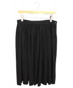 BALENCIAGA(バレンシアガ)の古着「ウールギャザースカート」|ブラック