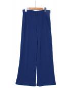 seya(セヤ)の古着「ジャージーニットパンツ」|ブルー