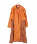 StandAlone(スタンドアローン)の古着「スエードコート」|オレンジ