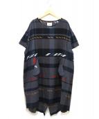 STOF(ストフ)の古着「ノイズチェックワンピース」|ブラック