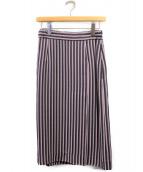 MARNI(マルニ)の古着「ストライプスカート」|ピンク
