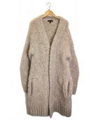 Drawer(ドロワー)の古着「アルパカシャギーコート」|ベージュ