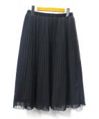 TOCCA(トッカ)の古着「プリーツスカート」|ブラック