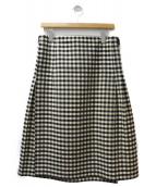 robe de chambre COMME des GARCONS(ローブドシャンブル コムデギャルソン)の古着「ギンガムチェックラップスカート」|ブラック
