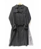 croisiere un dix cors(クロアジュールアンディコール)の古着「トレンチコート」|ブラック