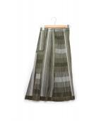 PLEATS PLEASE(プリーツ プリーズ)の古着「メッシュプリーツスカート」|オリーブ