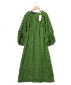 Lily Brown(リリー ブラウン)の古着「ツッキリボリュームワンピース」|グリーン