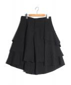 COMME des GARCONS(コムデギャルソン)の古着「フリルフレアパンツ」|ブラック